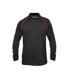 Tee-shirt CCM Compression protège-cou manche longue