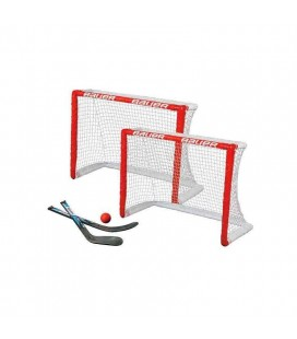 KIT 2 MINI CAGES BAUER + 2 MINI CROSSES + BALLE MOUSSE